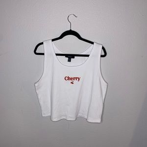 white cherry tank top